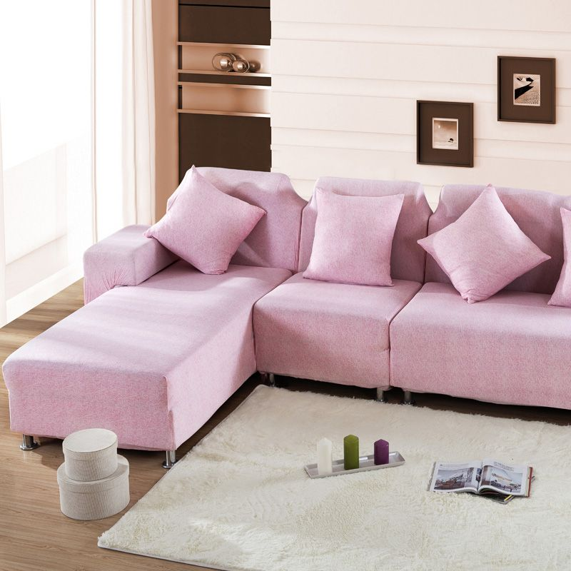 sofa cover Loveseat Cushions Furniture Protector pink L Shaped sofa ...