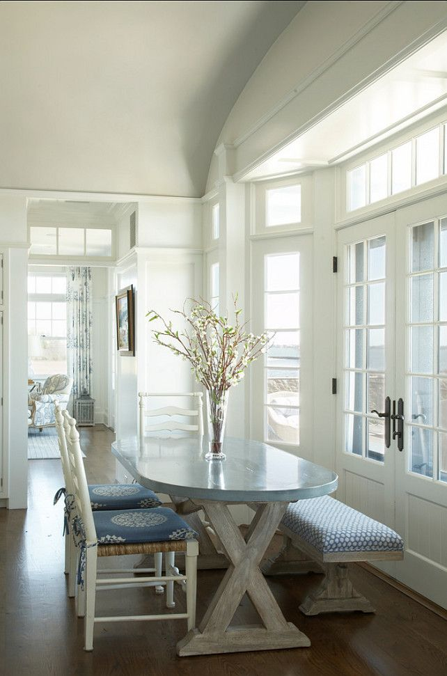 Coastal Dining Room Table With Bench Seating  Designer Tips Delectable Coastal Dining Room Tables Inspiration