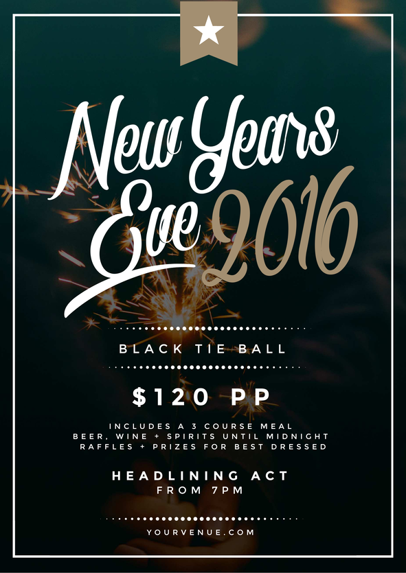 Use this New Years Eve promotional template for your event