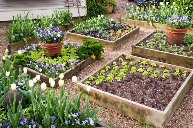 Hochbeete Im Garten Bauen 19 Ideen Aus Verschiedenen Materialien Garten Hochbeet Garten Garten Gestalten