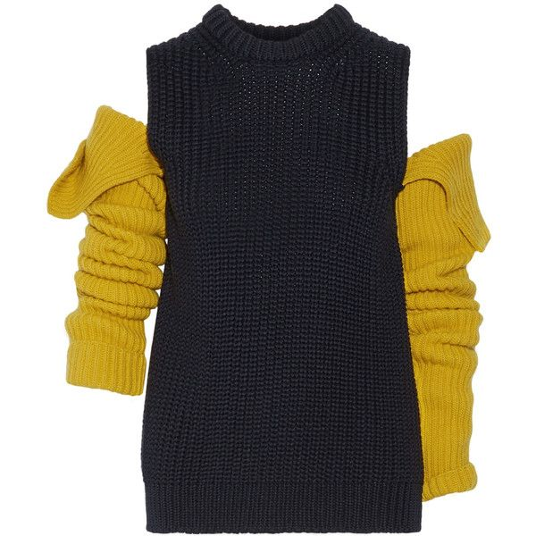 On Klein ❤ 205w39nyc Cutout Sweater Wool Liked Calvin £610 1vnO8xv