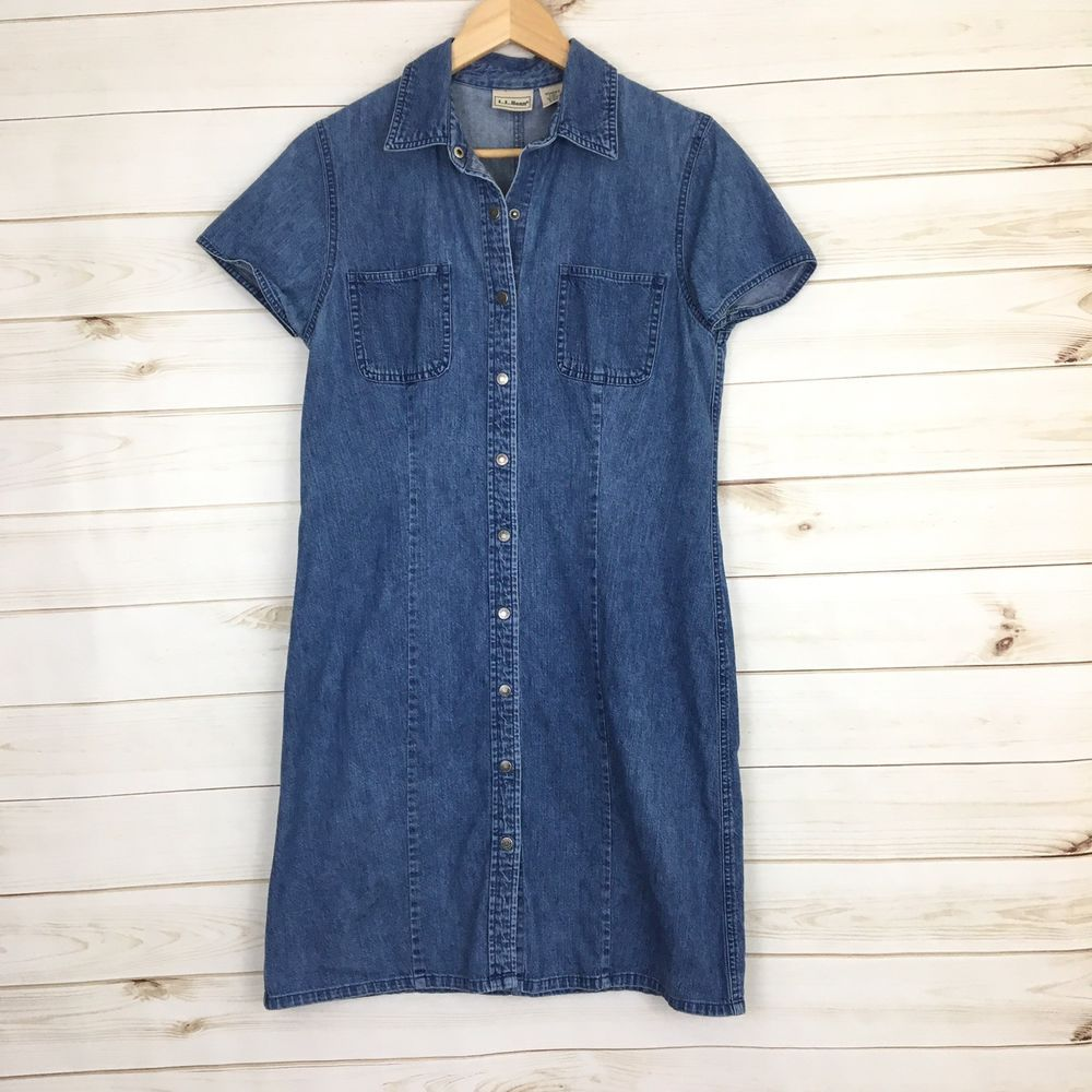 69973e82fbb  DenimDress LL Bean 8 Vintage Denim Short Sleeve Jumper Shirt Dress Womens  8 B32 - Denim Dress  40.00 End Date  Wednesday Nov-28-2018 15 07 15 PST Buy  It ...