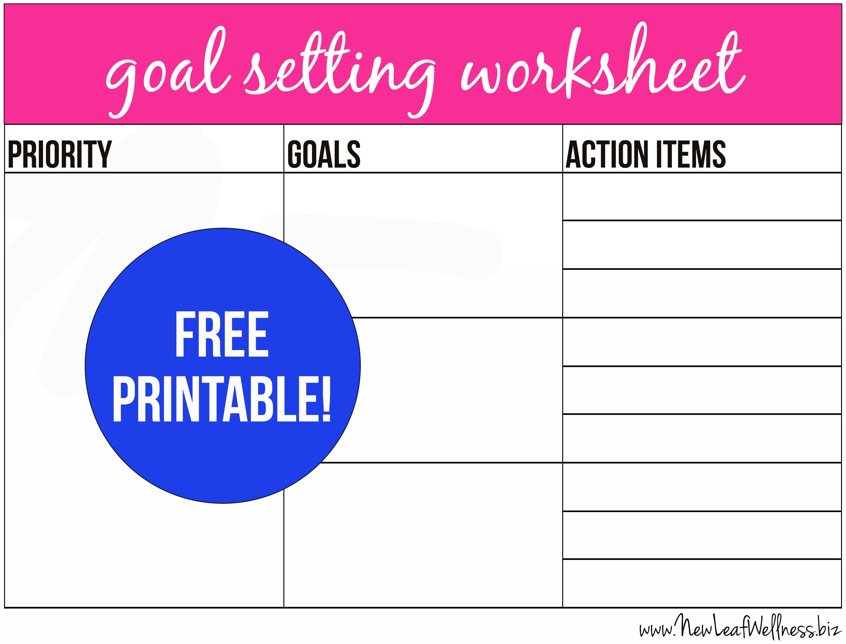 Free Printable Goal Setting Worksheet And Instructions The Family Freezer Free Goal Printables Goal Setting Worksheet Goal Thermometer Templates