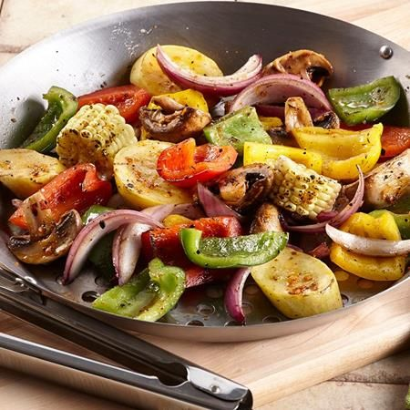"""Grilled vegetables are the """"hottest"""" food of the summer! Grill Mates® Roasted Garlic & Herb Seasoning gives vegetables a robust flavor..."""