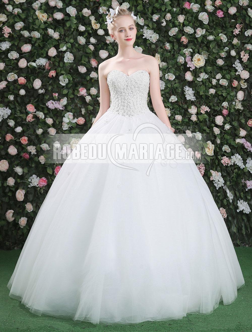 fc048611ece Robe de mariée princesse robe bustier col en cœur   ROBE2013965  -  robedumariage.
