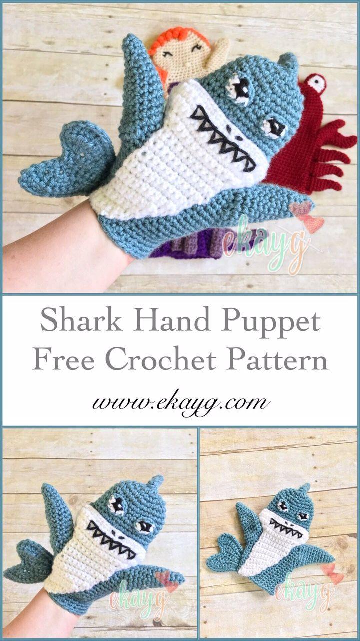 Shark Hand Puppet #handpuppets