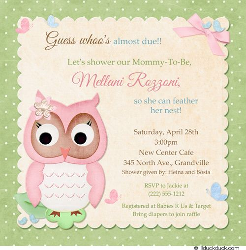 Invitation Wording for Baby Shower Verse Cards, Co-ed Surprise ...