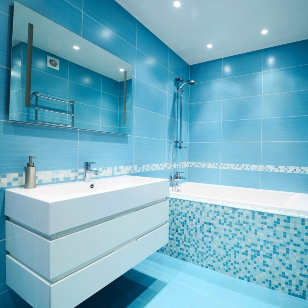 Blue Bathroom Tiles Image | Bathroom | Pinterest | Bathroom tiles ...