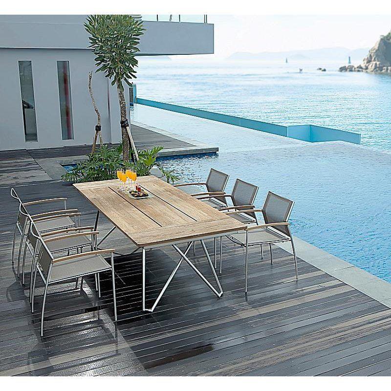 Rovex Zebra Mobel Tisch 220x100 Cm Zusammenklappbar Gartenmobel
