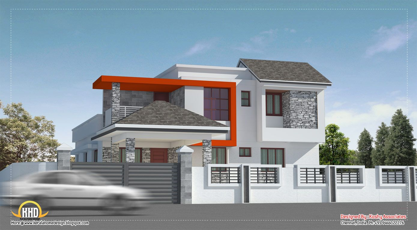 Home Design Gallery Brilliant Decoration Modern House In Chennai  2600 Sq Ft Kerala And