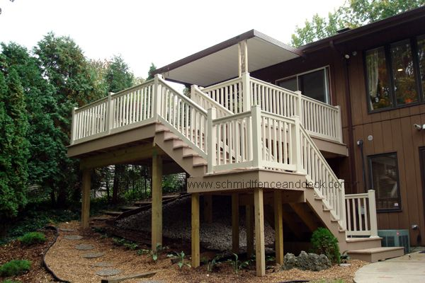 2nd story deck stairs provide safe access to the for Second story balcony