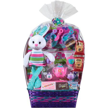 Tea for two easter basket with toys candies cookies 8 pc tea for two easter basket with toys candies cookies 8 pc walmart negle Image collections