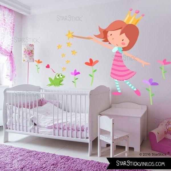 Princesa y el sapo vinilos infantiles vinilos - Decoracion habitacion bebe vinilos ...