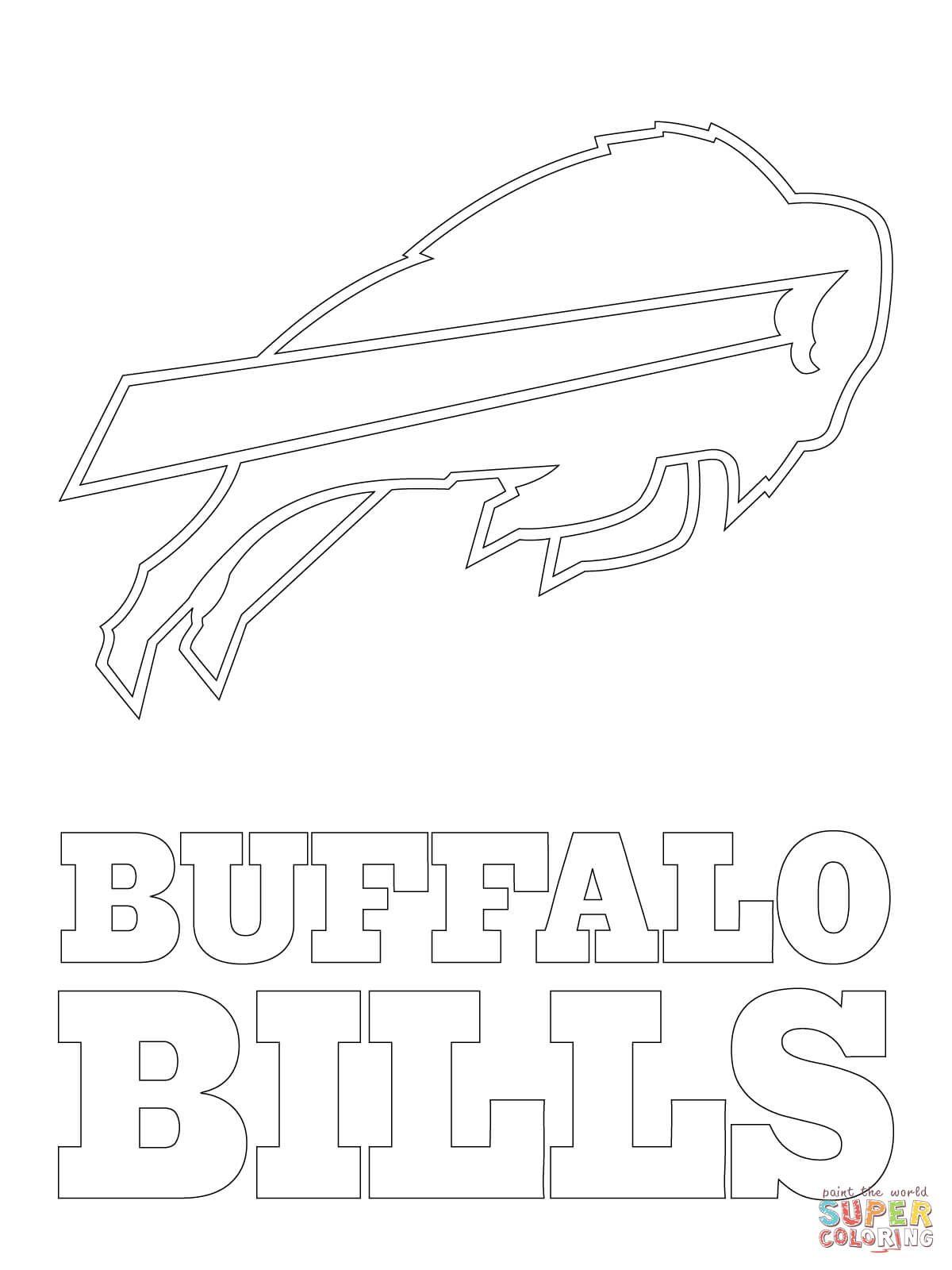 Buffalo Bills Logo Super Coloring