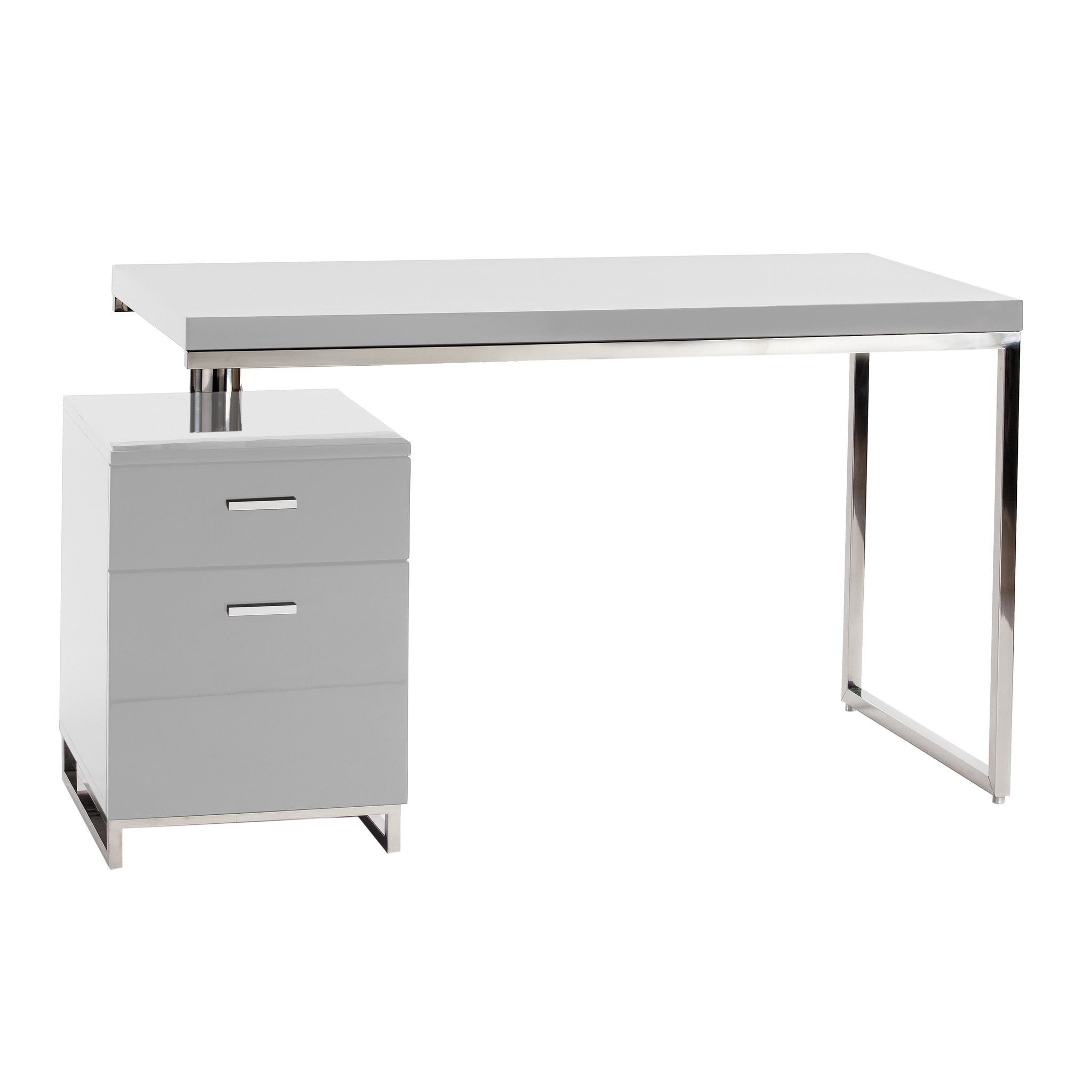 Moe S Home Collection Martos Modern Office Writing Desk With Storage Cabinet File Cabinet Desk Moe S Home Collection Desk Design