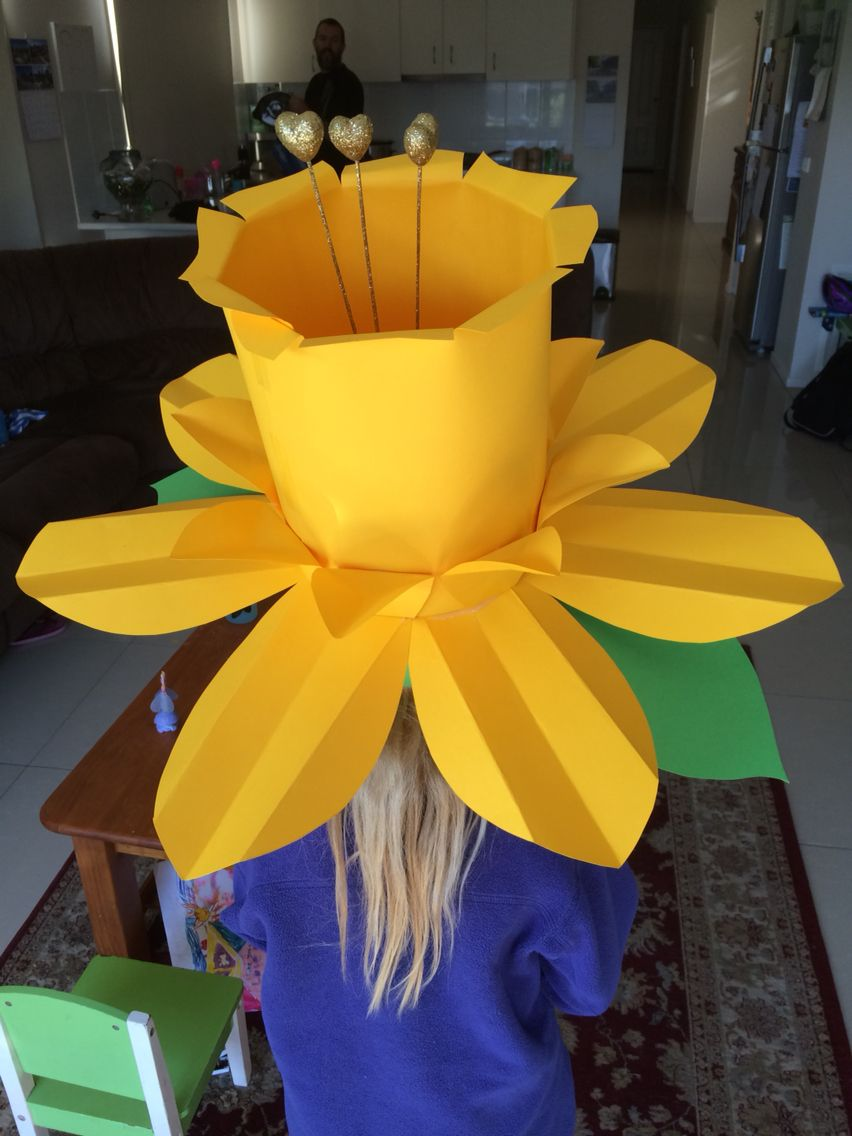 Daffodil hat for Easter Parade
