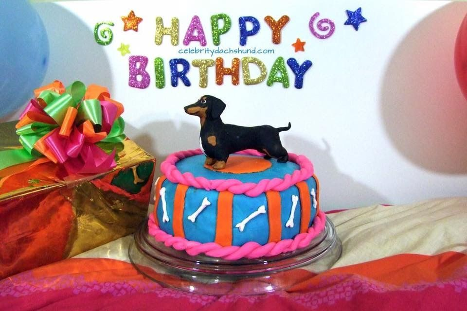 Dachshund Edible Party Cake Image Topper Frosting Icing Sheet
