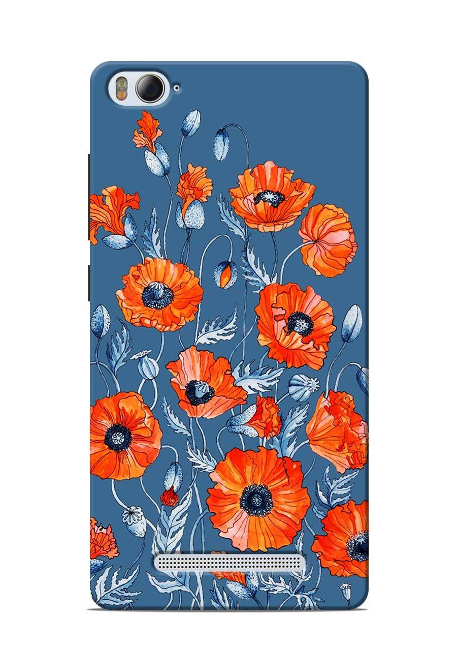 promo code 99e35 370f1 Poppy Flowers Printed Back Cover For Xiaomi Mi4i in 2019 | Xiaomi ...