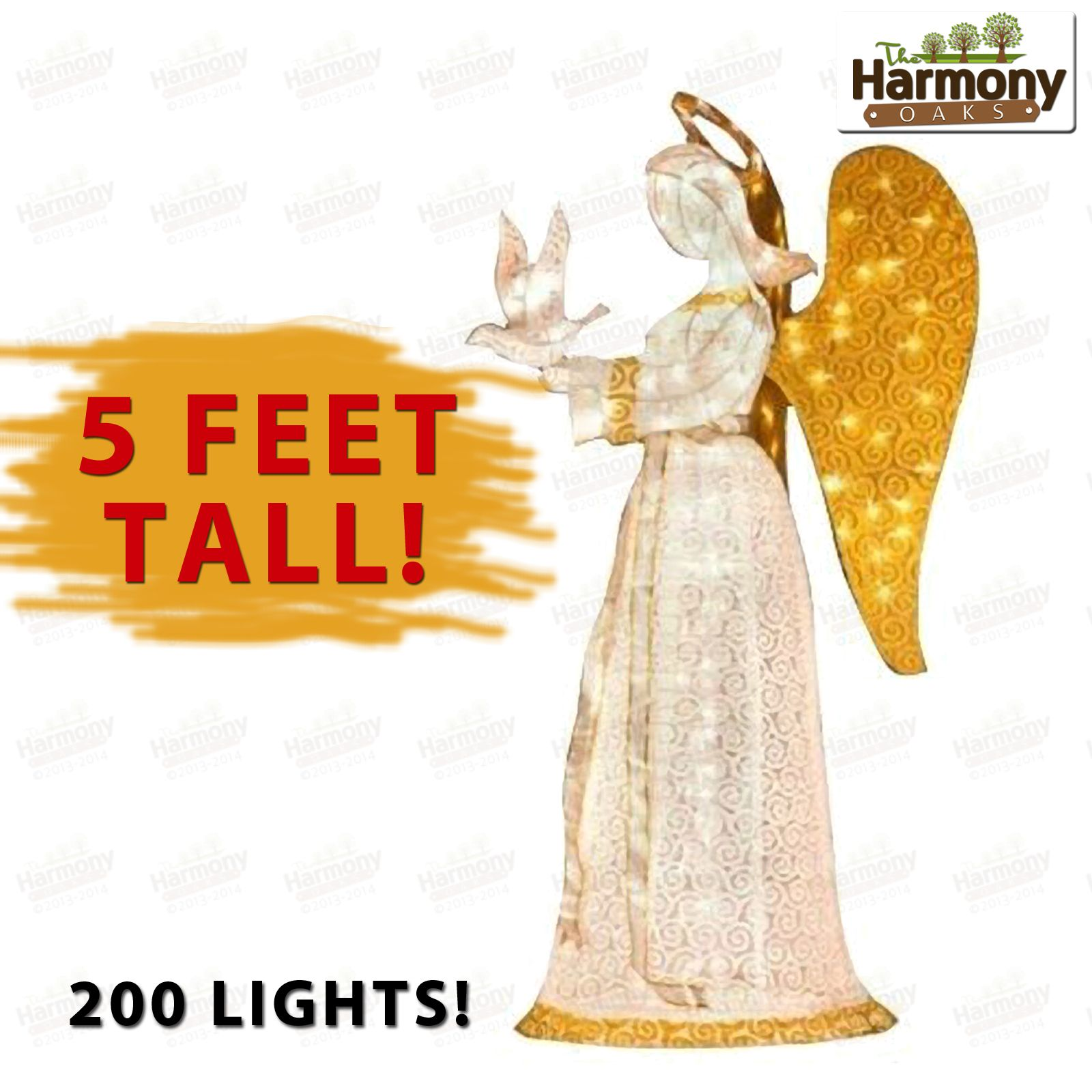 Yard christmas angel lighted decoration outdoor decor vintage dove 60 christmas angel with dove christmas angel lighted decoration outdoor decor vintage dove horn 60 aloadofball Image collections