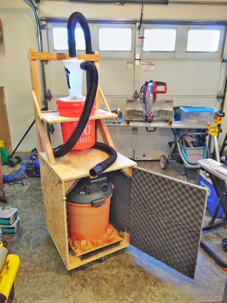 Portable Dust Collector With Silenced Shop Vac Scrap Wood Woodworking Shop Projects Wood Shop Projects Woodworking Tools Storage