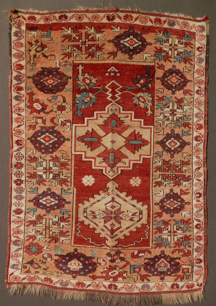 Find Best Value And Selection For Your Ca 1800 1850 Unusual Early Antique Anatolian Milas Prayer Rug See All Photos Search On Ebay