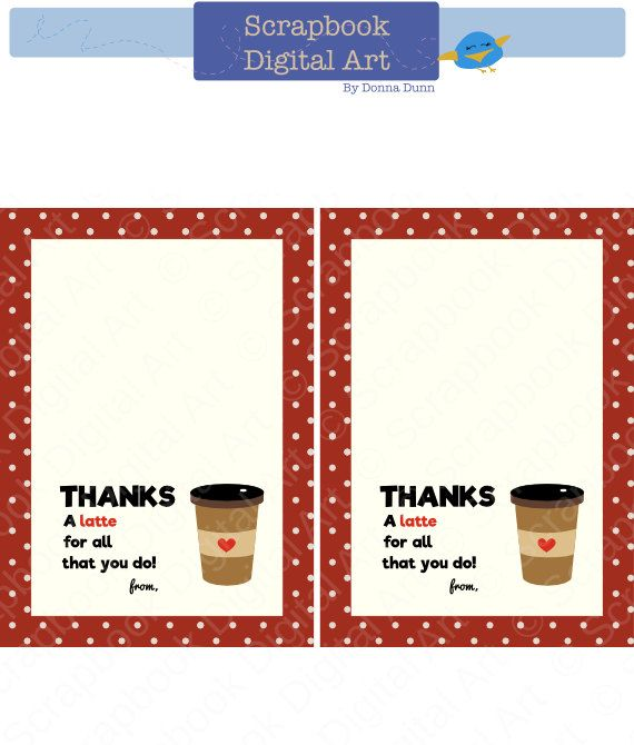 Printable Gift Card Tag Thank You Gift Card Printable Valentine
