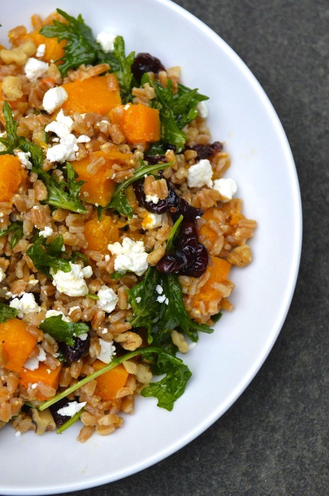 Roasted Butternut Squash Farro Salad with Cider ...