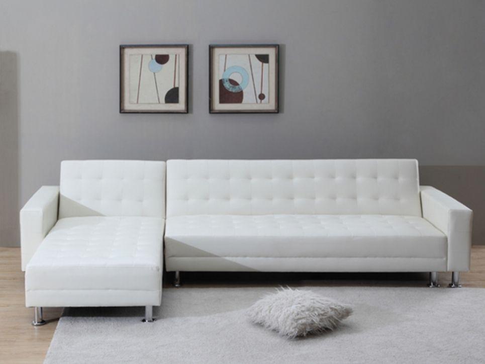 XXL Wohnlandschaft Schlafsofa Willis - Weiß Wohnzimmer Pinterest - wohnzimmer deko online shop