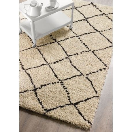 tapis casablanca beige avec losanges
