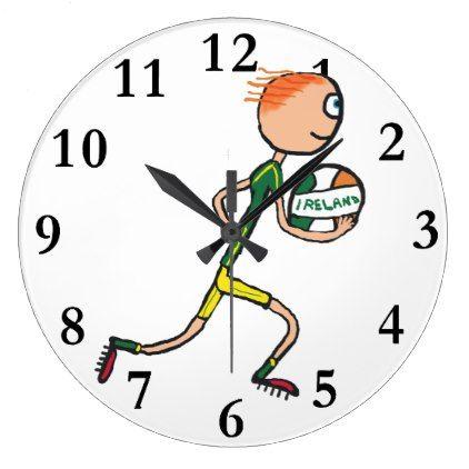 Gaelic Football Large Clock - decor diy cyo customize home
