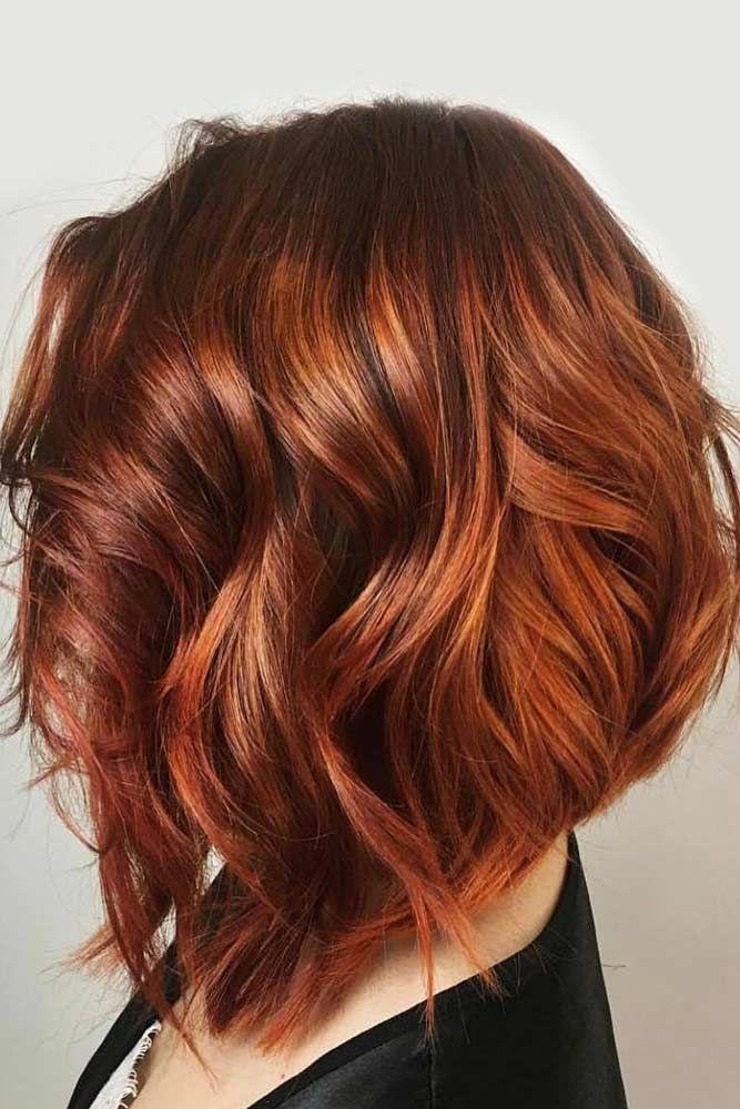 21 Not Time Robbing Shoulder Length Hairstyles Kupferbraun Rote