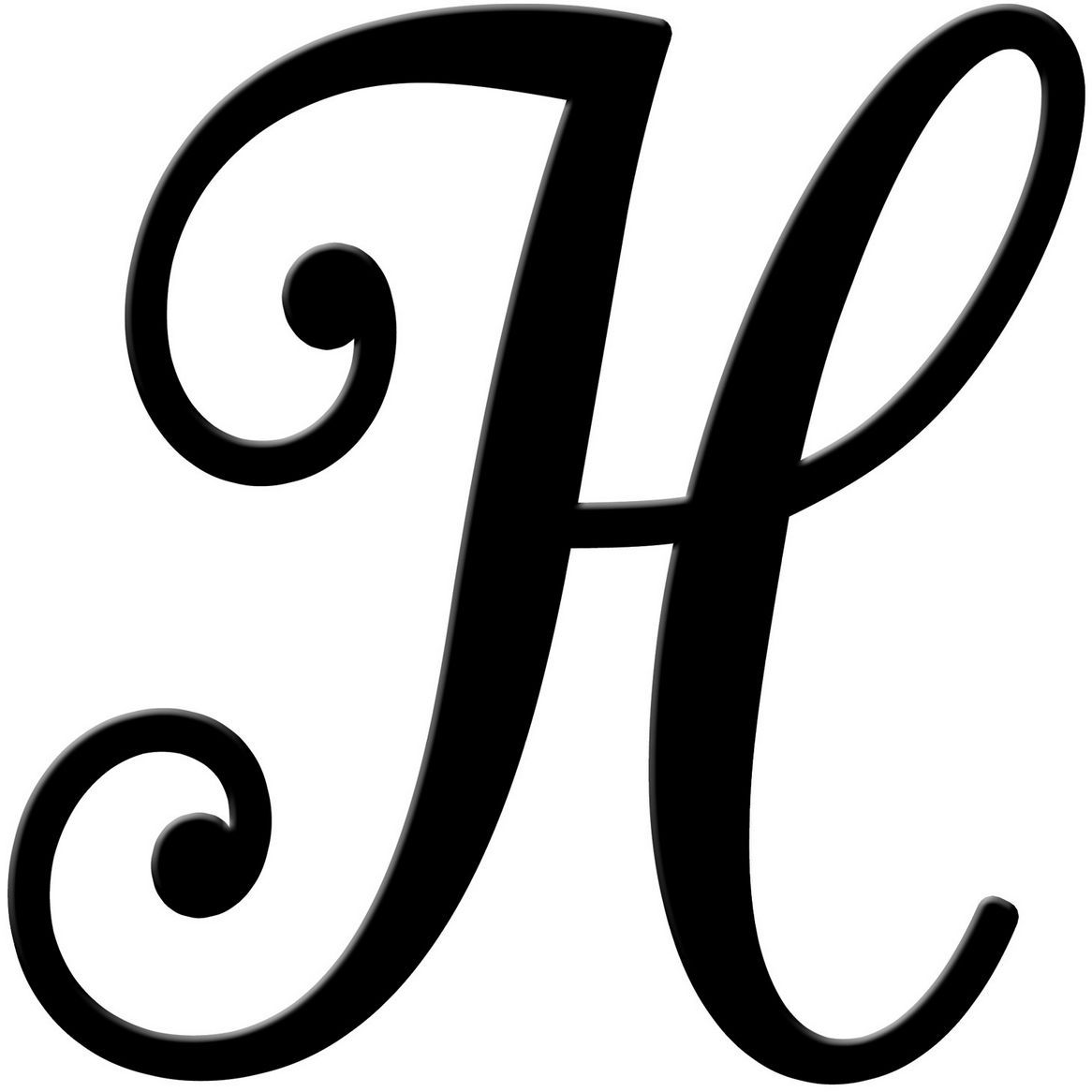 Fancy H Letter Titan Northeastfitness Co