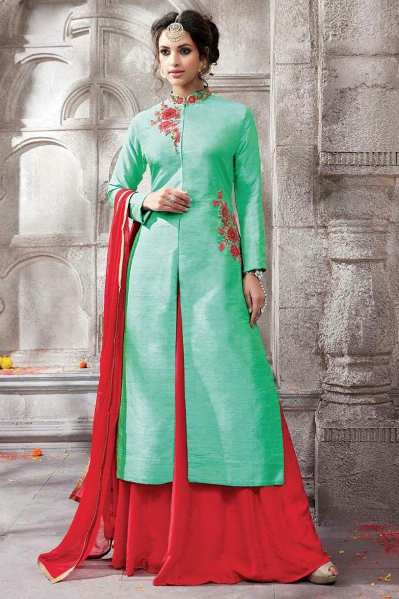 Heavy Designer Wedding Wear Green Anarkali Suit With Work 5907 ...