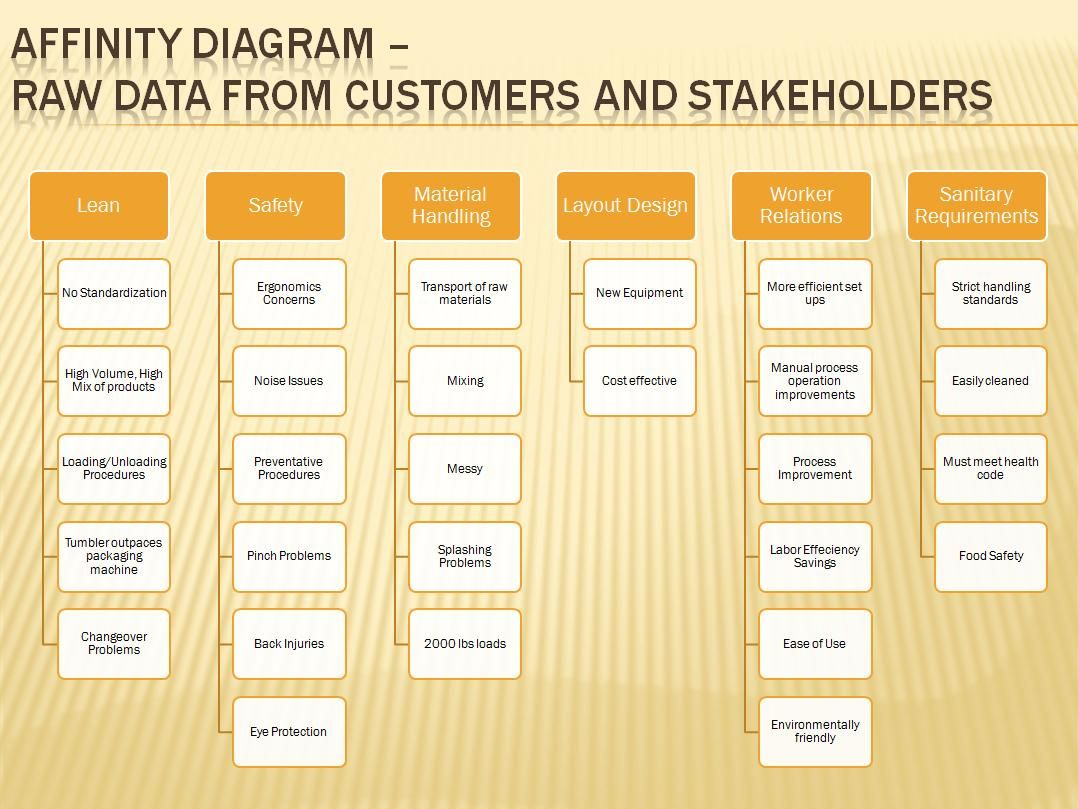 Affinity Diagram Raw Data From Customet Stakeholders  Business