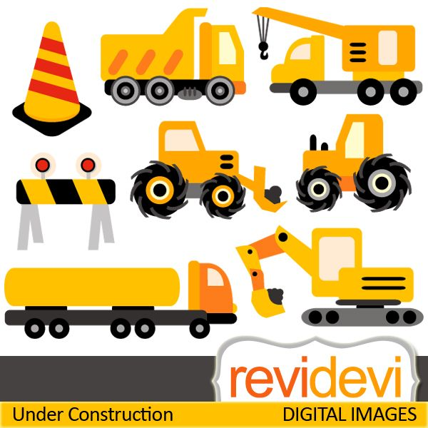 Under construction cliparts. Construction vehicle digital images ...