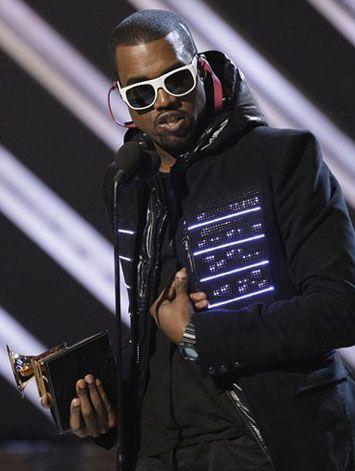 Kanye West Features Led Jacket During 2008 Grammy Awards Show Designed By Moritz Waldemeyer Via Talk2myshirt Http Bit Ly Zkcifa February 2008 Performan