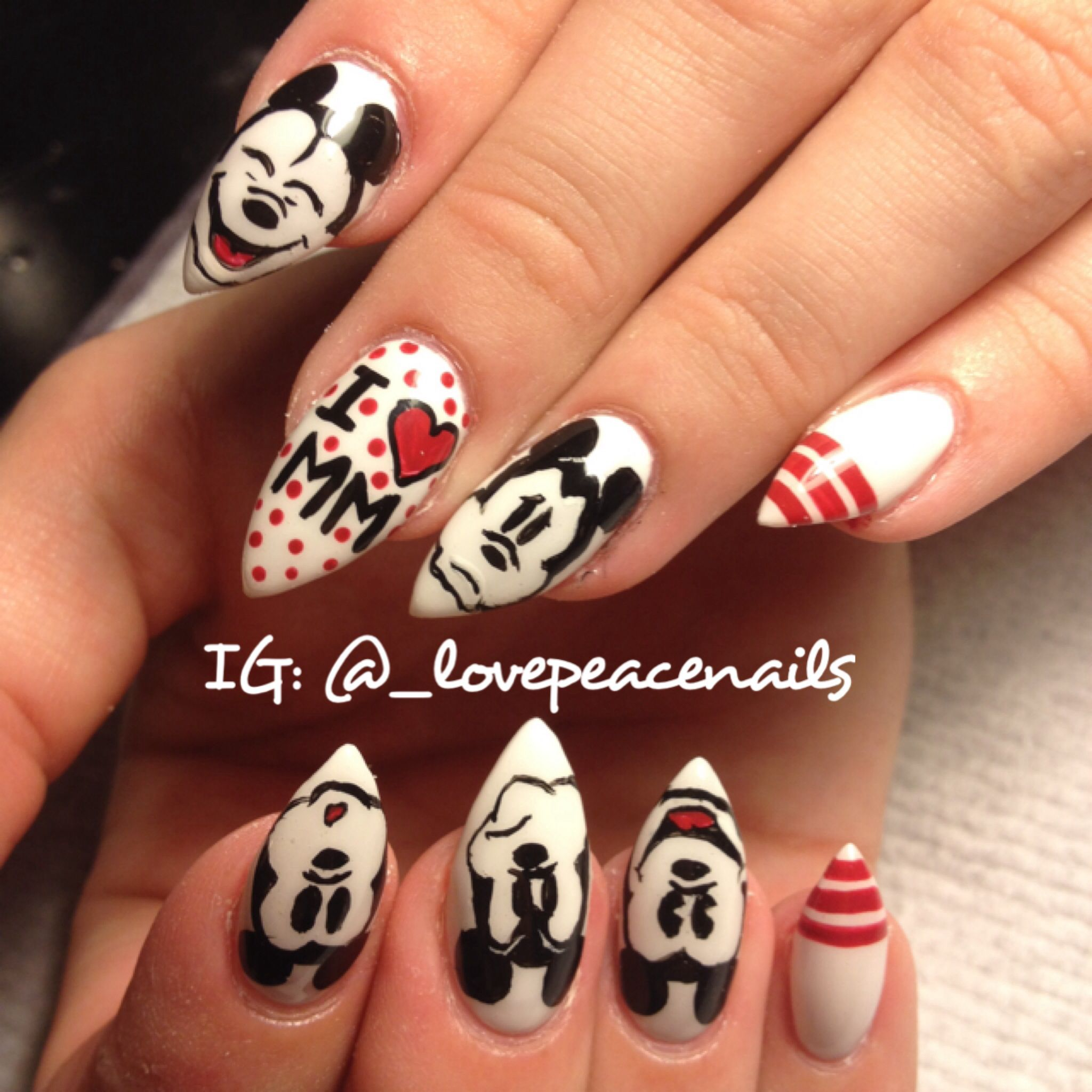 Mickey Mouse Dope Nail Art by Thao Dang | Nail Art ...