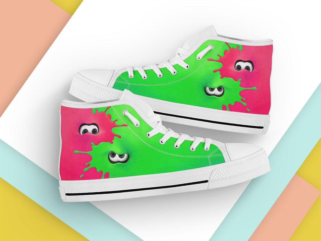 CARTOON SPLATOON HIgh Top Sneakers FREE SHIPPING MANY SIZES STYLE 2