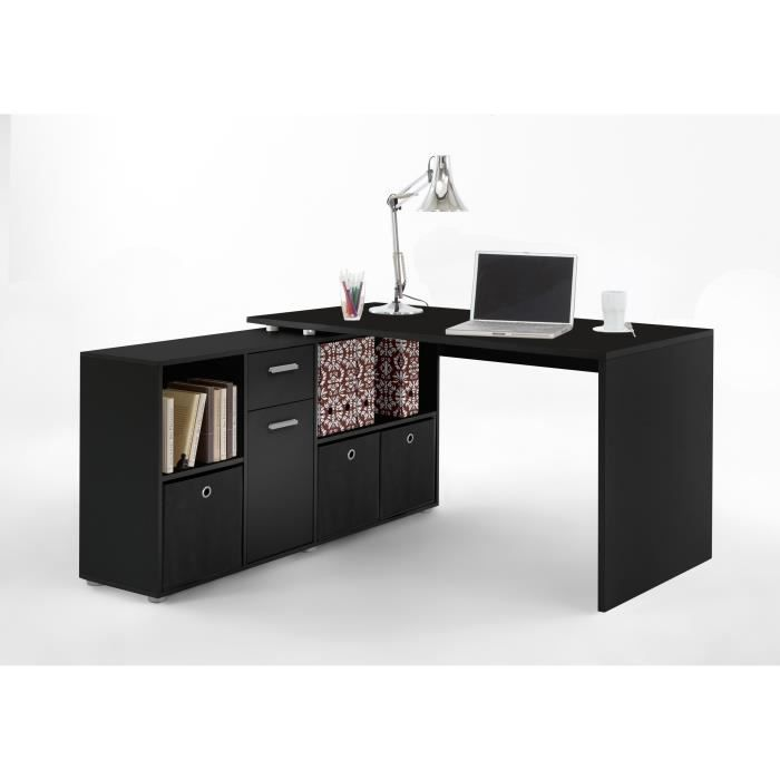 bureau d 39 angle lex noir d angles and bureaus. Black Bedroom Furniture Sets. Home Design Ideas