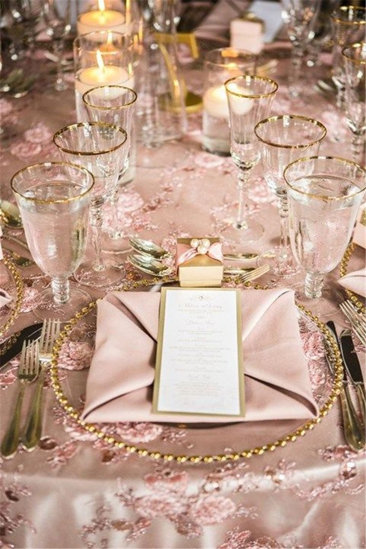 Pink Table Decorations Christmas Table Decorations Centerpiece Christmas Table Settings Ideas Mo Pink And Gold Wedding Pink Wedding Inspiration Wedding Table