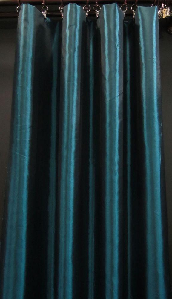 Cj112 1 Panel Dark Turquoise Shiny Iridescent Taffeta Made To