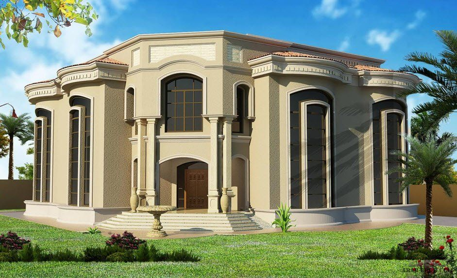 تصميم فيلا خاصة 200 متر مربع مساحه اربيل العراق من اعمال Chalak Jawhar Dubai Houses House Layouts Modern House Design
