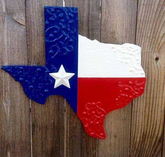 Texas Flag Wall Art Door Hanger 16 Handmade Texas Wall Art Handmade Hand Painted