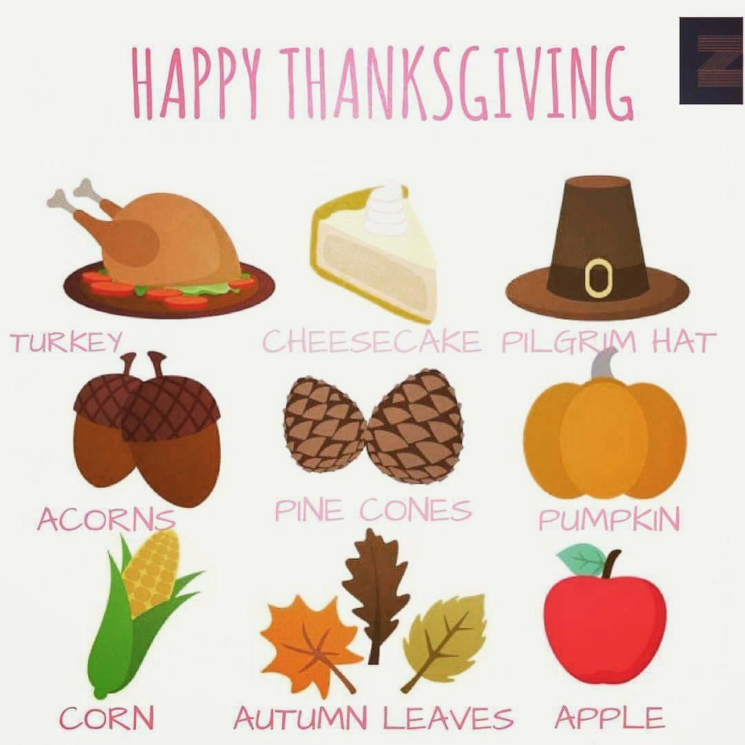 Thanksgiving Vocabulary Esl Worksheet