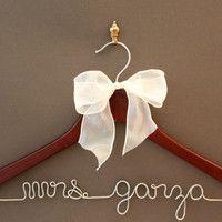 Wedding Dress Hanger by whiskeynweddingbells