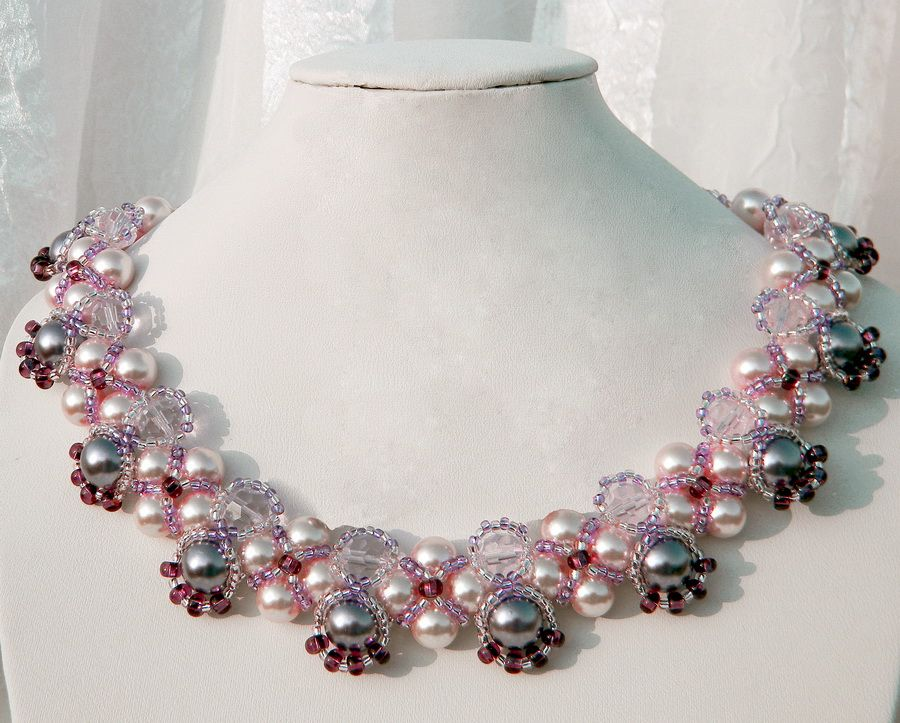 Free pattern for necklace Katherine (Beads Magic) | Free pattern ...