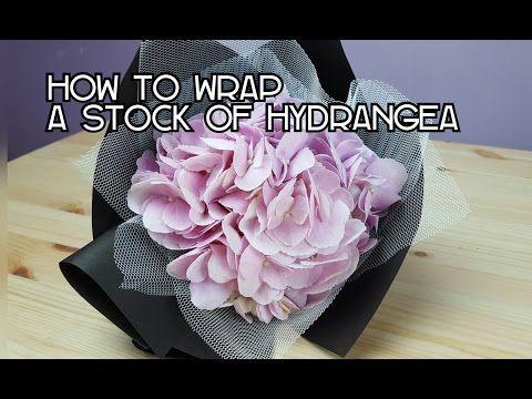 Mazzi Di Fiori Youtube.How To Wrap A Stalk Of Hydrangea Youtube Fiori Disegno Fiori