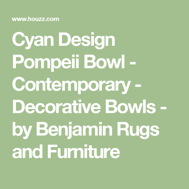 Contemporary Decorative Bowls Cyan Design Pompeii Bowl  Contemporary  Decorative Bowls