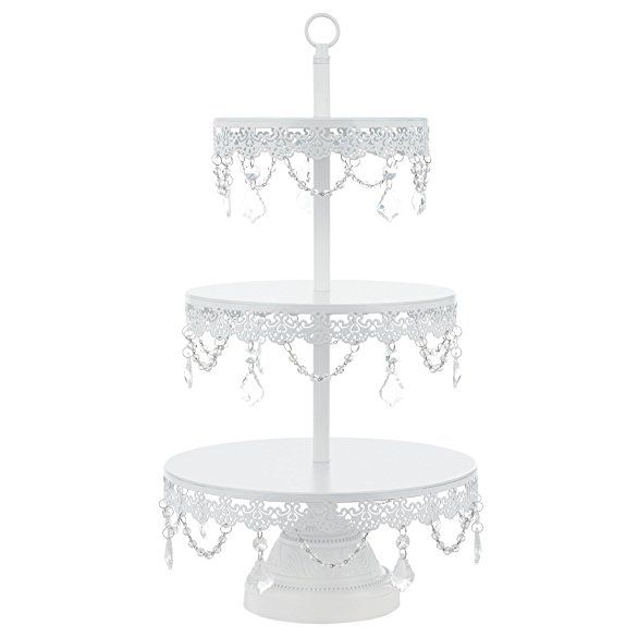 Sophia Antique Gold 3 Tier Cupcake Stand Dessert Cake Tower With Glass Crystals 23 Tal Metal Tiered Stand Chandelier Cupcake Stand Tiered Stand