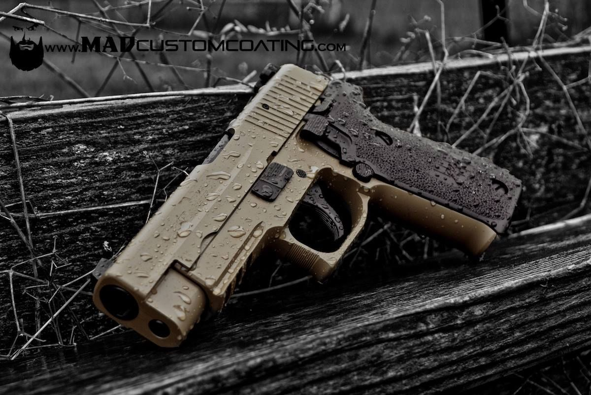 FDE with MAD Black components on a Sig Sauer P220 on a beautiful day in the Pacific Northwest. Find our speedloader now!  http://www.amazon.com/shops/raeind
